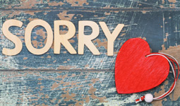Make space for apologies in a relationship